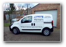 Digital print and vinyl lettering on Warman's van